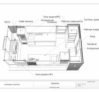 План расстановки оборудования павильона под кафе