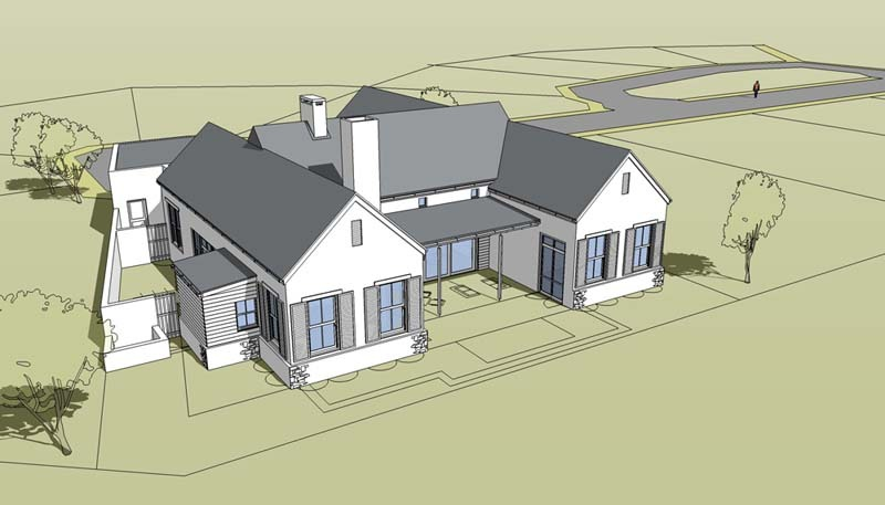 combined house portrait and 3d sketchup model 2