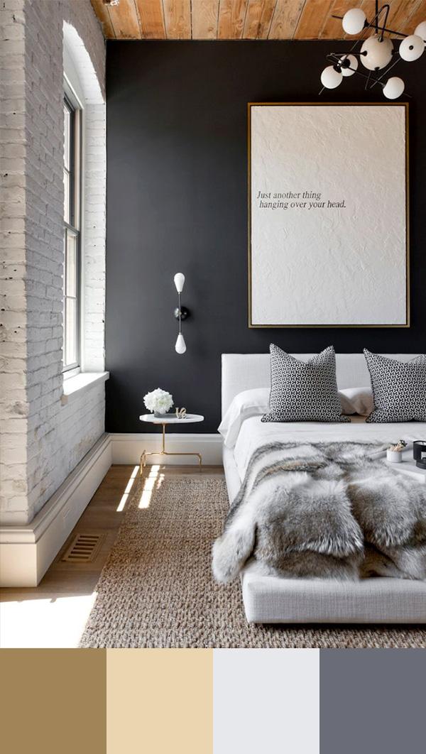 Интерьер в коричневых и светло-серых тонах