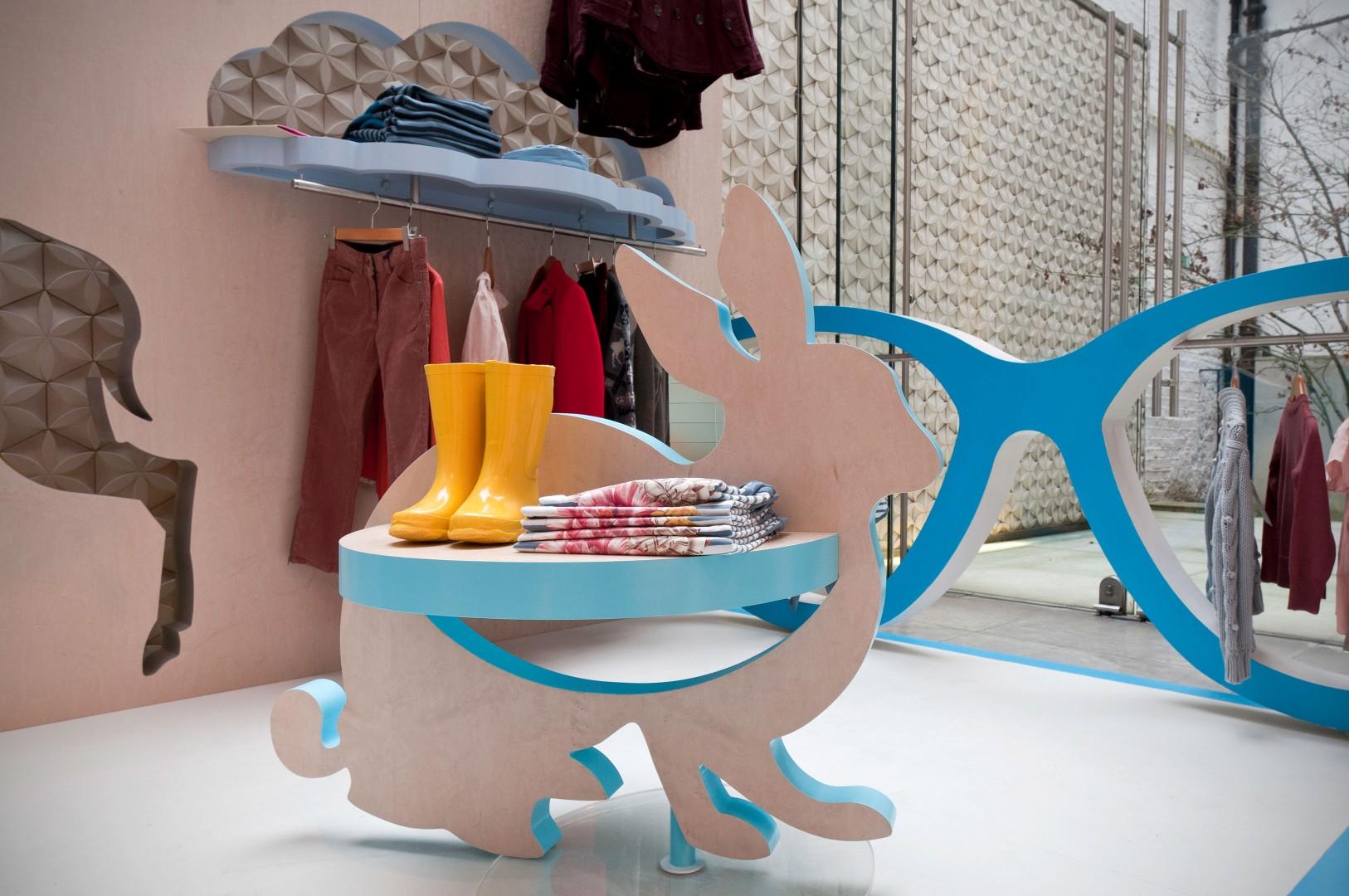 Витрина детского магазина одежды