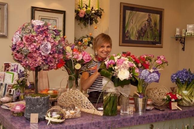 Внутренний дизайн магазина цветов
