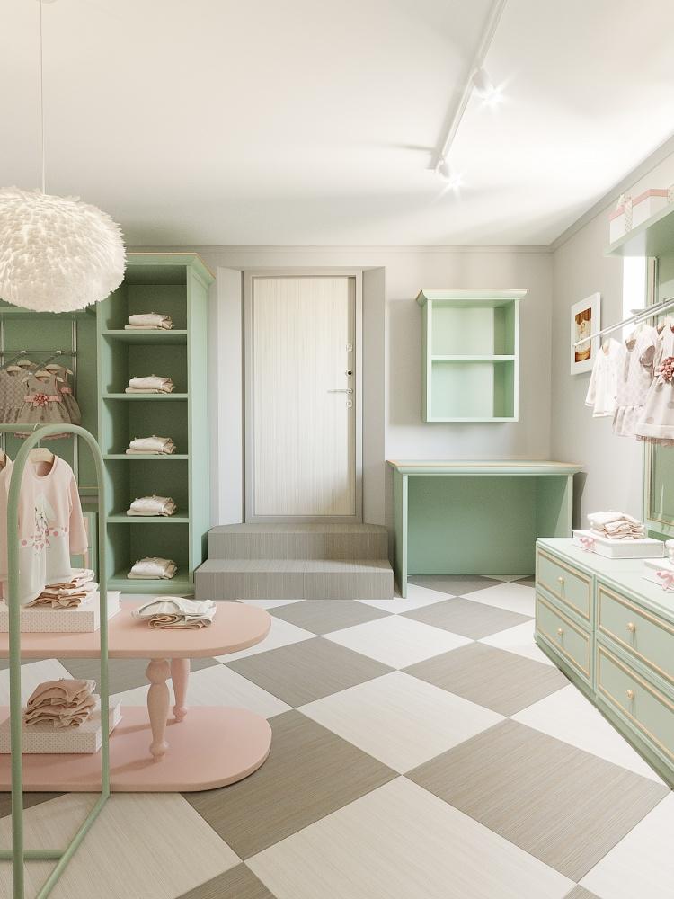 интерьер детского магазина одежды